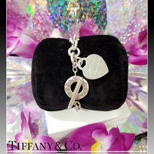 🌺Return to Tiffany & Co Heart Tag Toggle Bracelet